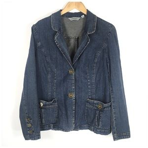 Denim 2 Button Blazer Jacket St John's Bay XL